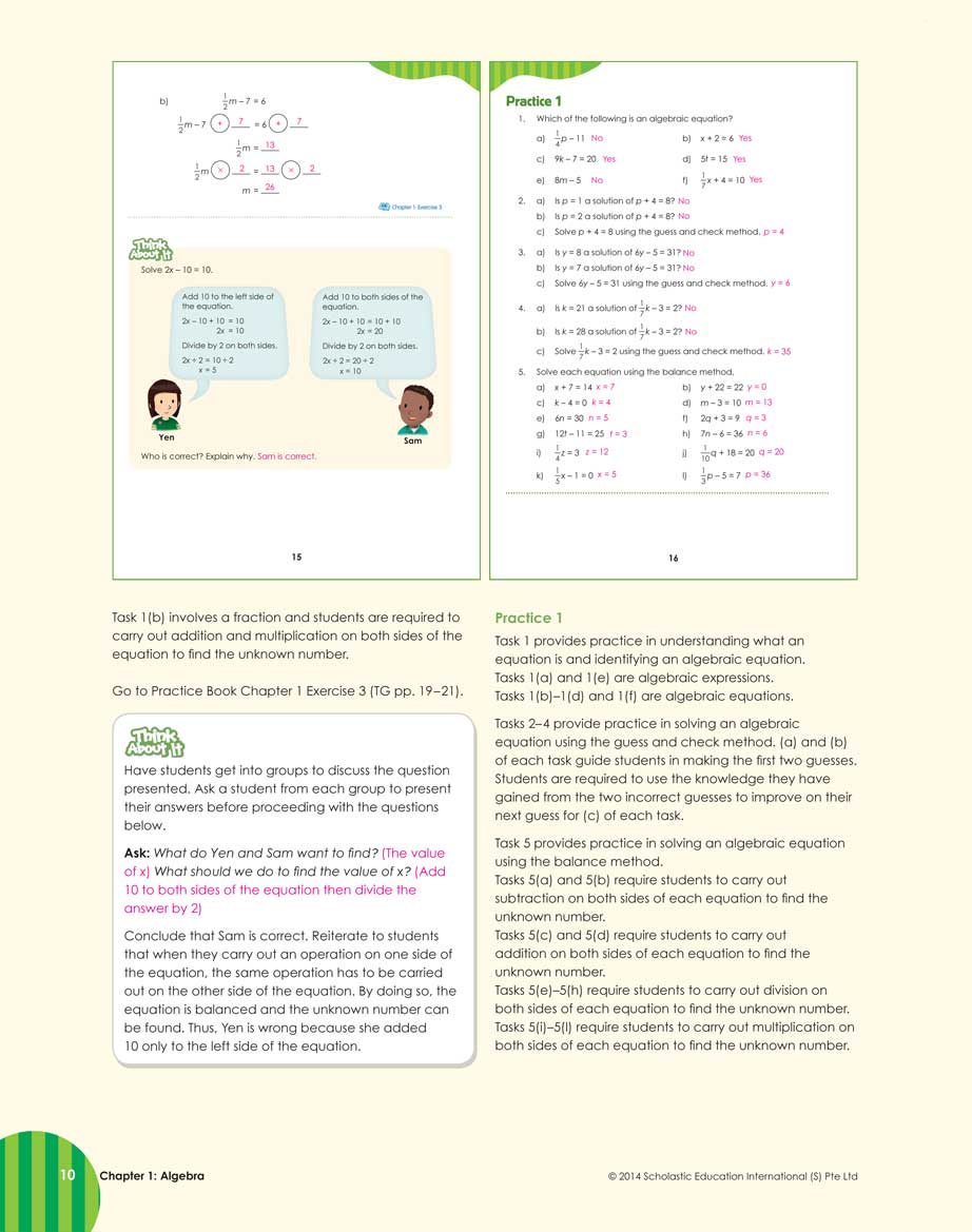 Teacher's Guide 6A