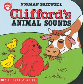 Clifford'S Animal Sounds Shaped Board Book