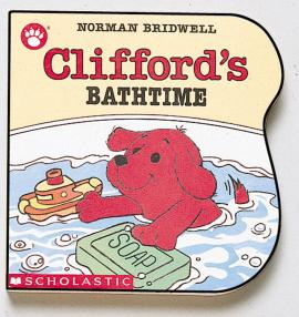 Clifford'S Bathtime Shaped Board Book