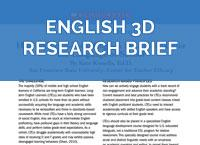 English 3D Research Brief