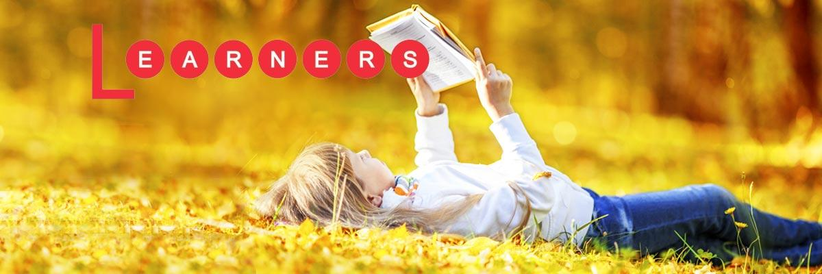 Learners: Proven text books and workbooks for English grammar, reading, vocabulary, and writing.