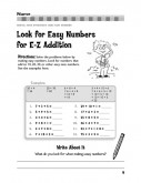 Look for Easy Numbers for E-Z Addition