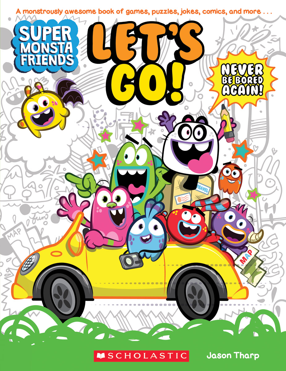 Super Monsta Friends: Let'S Go! (Book 1)