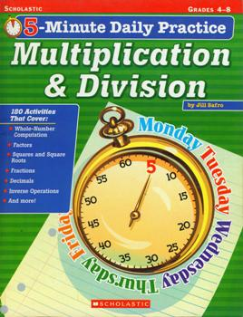 5-Minute Daily Practice Multiplication & Division Grade 4-8