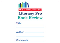 Connect reading and writing with a 'book review' bookmark