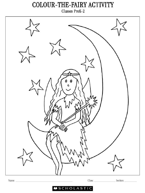 Colour the Fairy