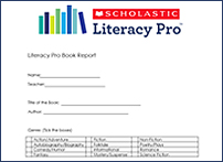 Provide writing practice with the book report template
