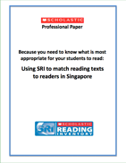 Using SRI to Predict Reading Performance Levels in Singapore