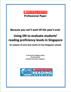 Using SRI to Evaluate Students' Reading Proficiency Levels in Singapore
