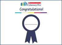 Personalize award ribbons for reaching new certificate levels