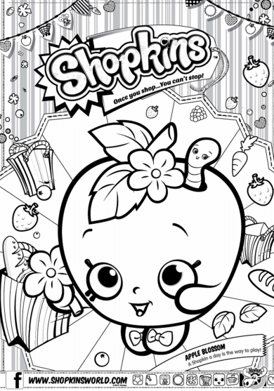 Shopkins Coloring Page 2