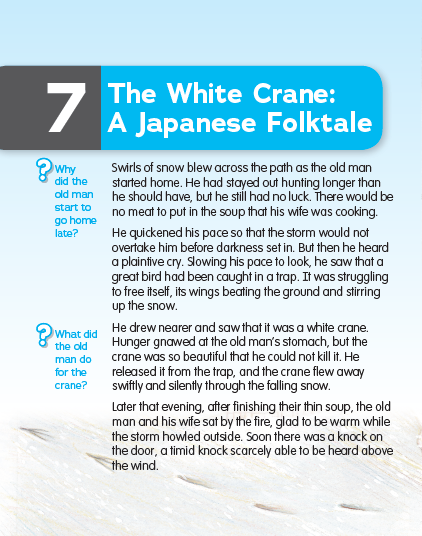 The White Crane: A Japanese Folktale